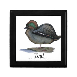 Teal duck, tony fernandes trinket boxes