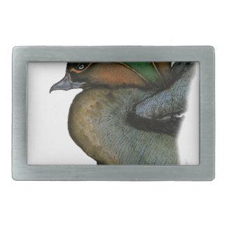 teal duck, tony fernandes rectangular belt buckle