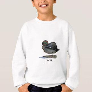 Teal duck, tony fernandes sweatshirt