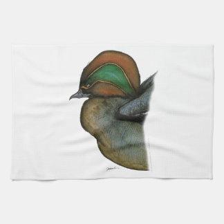 teal duck, tony fernandes tea towel