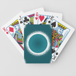 Teal Eclipse Bicycle Playing Cards