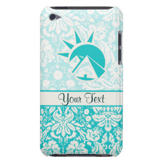 Teal Egyptian Pyramid Barely There iPod Cover