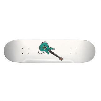 teal electric guitar music graphic.png skate board deck