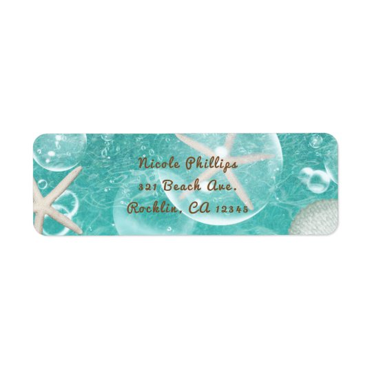 Teal Enchanted Sea Starfish & Bubbles Ocean Party