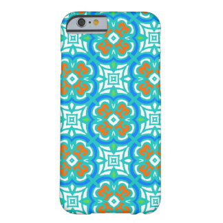 Teal Ethnic Pattern Barely There iPhone 6 Case