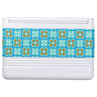 Teal Ethnic Pattern Igloo Cooler