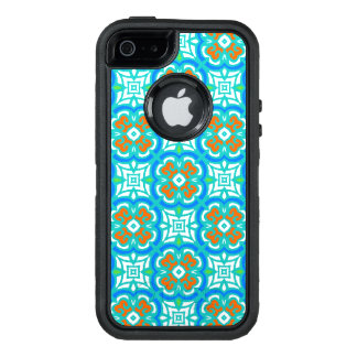 Teal Ethnic Pattern OtterBox Defender iPhone Case
