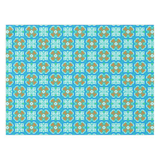 Teal Ethnic Pattern Tablecloth