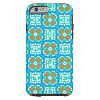 Teal Ethnic Pattern Tough iPhone 6 Case