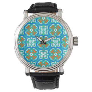 Teal Ethnic Pattern Watch