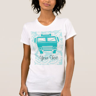 Teal Fire Truck Tees