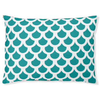 Teal Fish Scale 2 Pet Bed