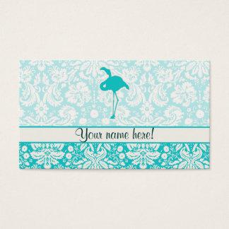 Teal Flamingo Business Card