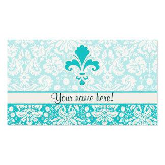 Teal Fleur de lis Pack Of Standard Business Cards