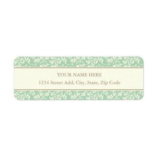 Teal Floral Address Label