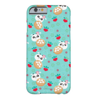 Teal Floral Panda Dumpling Pattern Barely There iPhone 6 Case