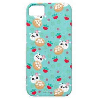 Teal Floral Panda Dumpling Pattern Case For The iPhone 5