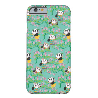 Teal Floral Panda Pattern Barely There iPhone 6 Case