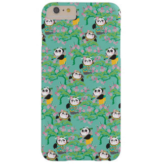 Teal Floral Panda Pattern Barely There iPhone 6 Plus Case