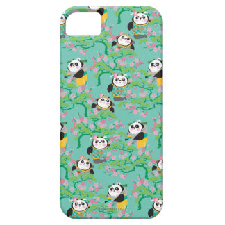 Teal Floral Panda Pattern iPhone 5 Cover
