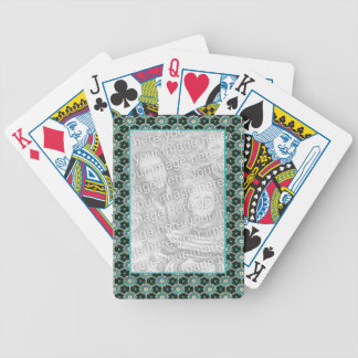 Teal Frame Bicycle Playing Cards