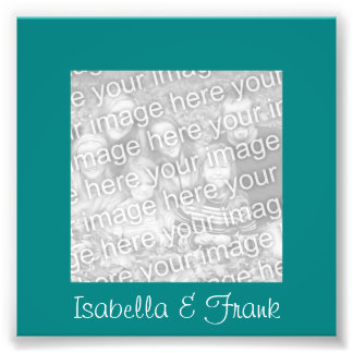 Teal Frame Photo