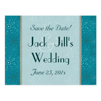 Teal Galaxy WEDDING Save The Date Post Cards