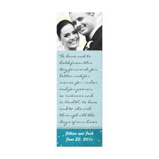Teal Galaxy WEDDING Vows Display Gallery Wrap Canvas