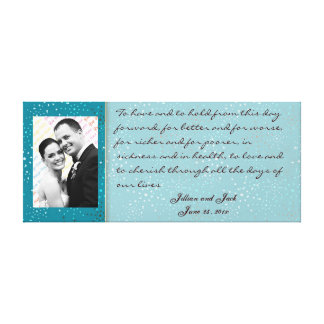 Teal Galaxy WEDDING Vows Display Stretched Canvas Print