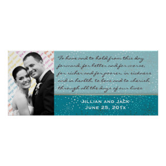 Teal Galaxy WEDDING Vows Display Posters