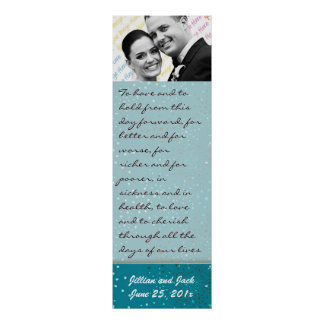 Teal Galaxy WEDDING Vows Display Print