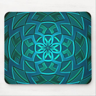 Teal Geometric Art Mouse Mat