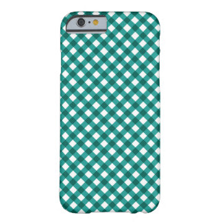 Teal Gingham Pattern iPhone 6 case Barely There iPhone 6 Case