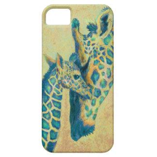 teal giraffes iphone case