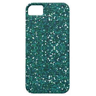 teal glitter iphone 5 case