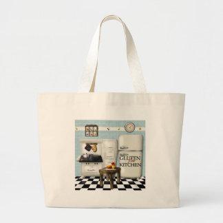 Teal Gluten Free Kitchen Jumbo Tote Bag