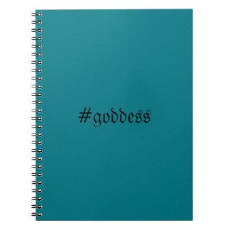Teal #goddess Notebook