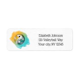 teal gold color splash yin yang volleyball address