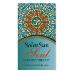 Teal  & Gold Sunshine Yoga New Age Business Cards