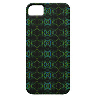 Teal, Green and black floral pattern. Case For The iPhone 5