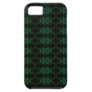 Teal, Green and black floral pattern. iPhone 5 Cover