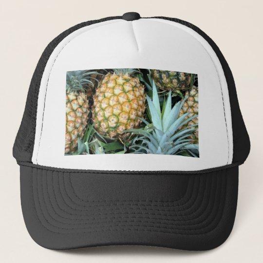 Teal, Green and Golden Hawaiian Pineapples Cap