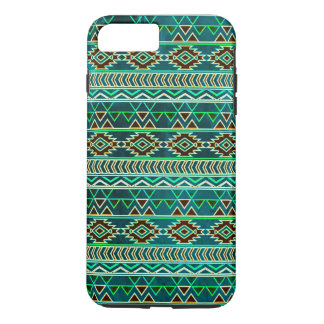 Teal Green Aztec Tribal Pattern iPhone 8 Plus/7 Plus Case