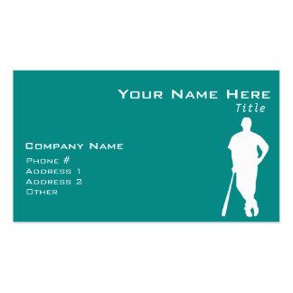 Teal Green Baseball Business Card Template