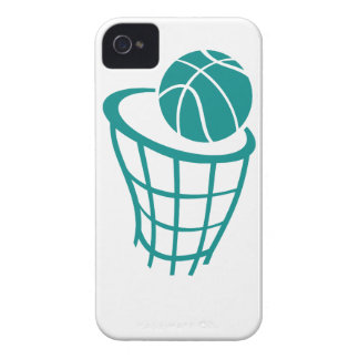 Teal Green Basketball iPhone 4 Cases