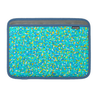 Teal Green Blue Yellow Abstract Pattern MacBook Sleeve