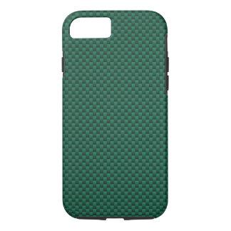 Teal Green Carbon Fiber Background Print iPhone 7 Case