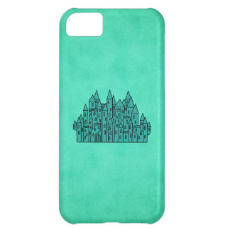 Teal Green Castle Cover For iPhone 5C