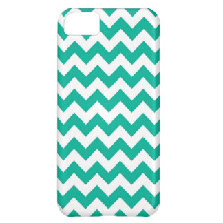 Teal Green Chevrons iPhone 5C Case