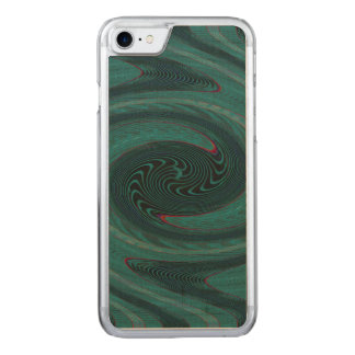 Teal Green Circular Abstract Carved iPhone 7 Case